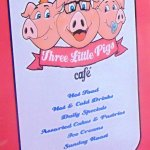 Three Little Pigs Cafe - Menu Cover