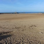 Vast expanse of beach