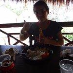 Eating at Seven Color Lagoon
