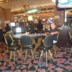 in the casino.....