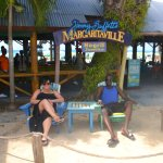 My husband and I at Margaritaville, Negril