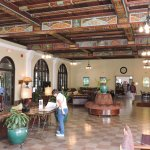 Lobby With Folk Art Ceiling