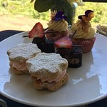 Beautiful lunch one day and high tea the following day