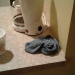 Housekeeping cleaning rag left in room