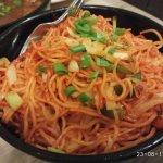 Schezwan vegetarian noodles