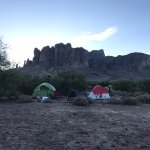 Campsites with a beautiful view of Superstition mountain.