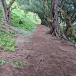 path to red sand beach