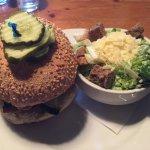 The Elvis Burger w/ side Caesar