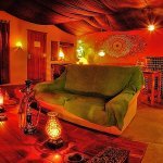 Moroccan Room - Communal chill-out room with fire place