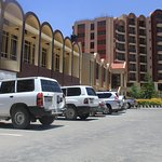 Axum Hotel Front View & Parking Area