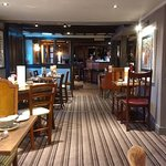 Cosy country pub with a plush new interior