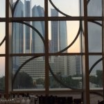 View from the bar towards Etihad Towers