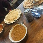 chapati, daal and rice