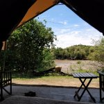 The view directly over the river from your tents
