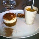 Entremet Cappuccino et café
