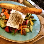 Fresh salad and feta cheese