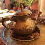 Welcoming Moroccan tea on the rooftop