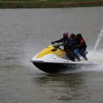 Lake Gregory jetski in action