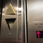 Elevator with broken up and down lights