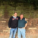 With my new friend David infront the original Strawberry Fields Wall