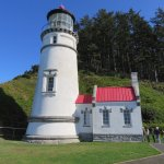 Immaculate lighthouse with a number of volunteers to explain its history