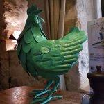 Poule décorative
