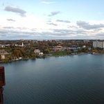Vue sur le fleuve Hudson et sur la ville Poughkeepsie