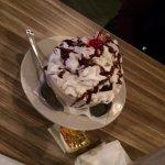 chocolate sundae.