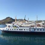 Le bateau qui nous amène à Gramvoussa