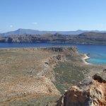Du haut de la forteresse avec vue sur la baie de Balos