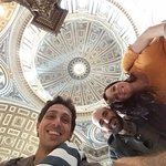Tomasso, Michael and Jordan at the Pantheon.