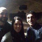 Michael, Jordan and Tomasso in the Catacombs