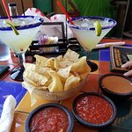 Margaritas and Chips and Salsa/Beans