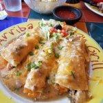 Three different enchiladas