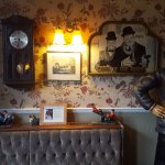 The bar area is full of Laurel and Hardy memorabilia