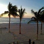 Early morning peaceful beach.