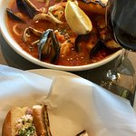 Lobster roll and Cioppino