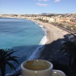 Nice way to start the day, espresso and our balcony view