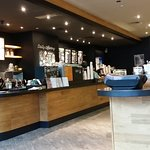 Starbucks Cafe off Hotel Lobby