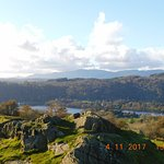 A view from the top of Brantfell in Bowness-on-Windermere. ( Keep your dog on a leash)