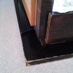 Badly chipped base of bed (3 sides).
