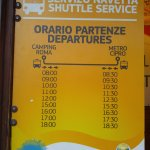 shuttle hours (end of September) for 3.50 euros round trip