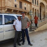 Our driver Lalit and comfortable Safari vehicle.