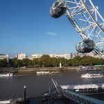 View of the London Eye from our hotel room window