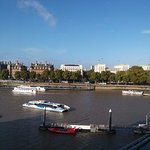 View of the River Thames from our hotel room