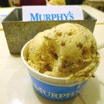 Caramelized brown bread double scoop