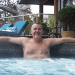 Author in the Kingfisher SPA hottub