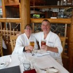 Author and wife enjoying lunch after SPA event!