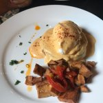 Eggs benedict at brunch