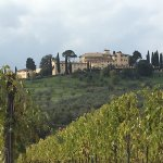 View of Castello del Nero from the hiking path
